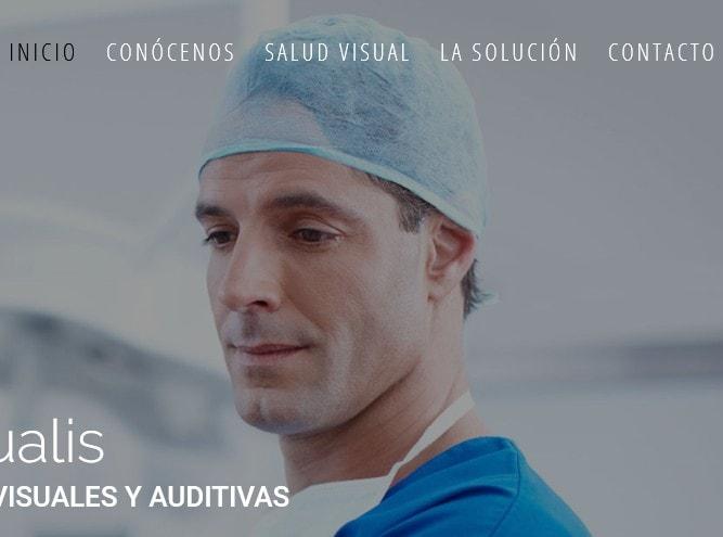 Diseño de página web para empresa de sector sanitario en salud visual