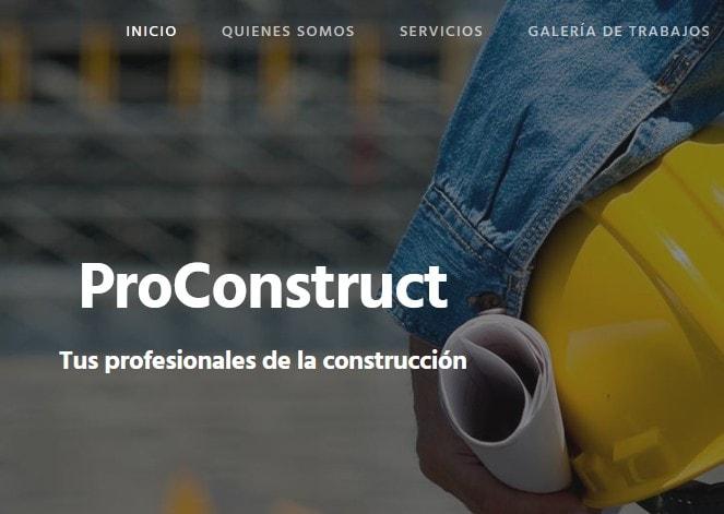 Diseño de página web para empresa de construcción Promotora y Constructora en reformas en Madrid
