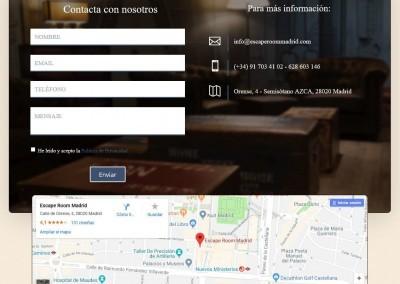pagina escape room juego Diseño paginas web