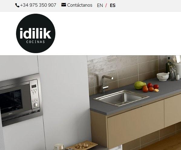 Creación de página web para empresa diseñadora y fabricante de muebles de cocina. Web para cocinas de diseño.