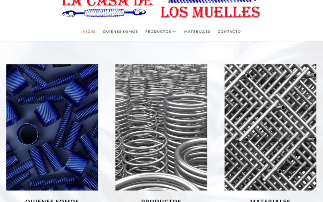 Creación de página web para empresa de venta y fabricación de artículos técnicos en Madrid
