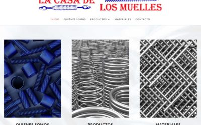 Diseño de página web para empresa de venta y fabricación de artículos técnicos en Madrid