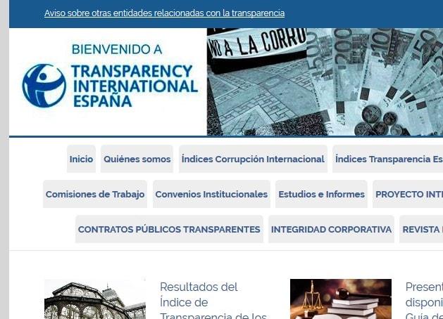Diseño de página web para ONG contra la corrupción Transparency International España