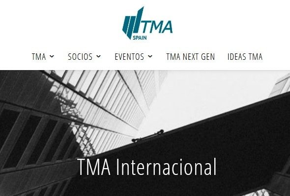 Diseño de página web para asociación de profesionales internacional.