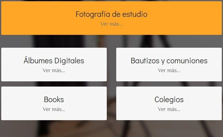 web para fotografias Madrid