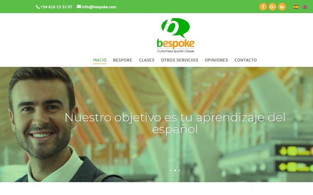 Diseño de páginas web para empresa de clases de español e inglés traducción de idiomas