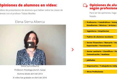 pagina profesor idioma aleman Diseño paginas web