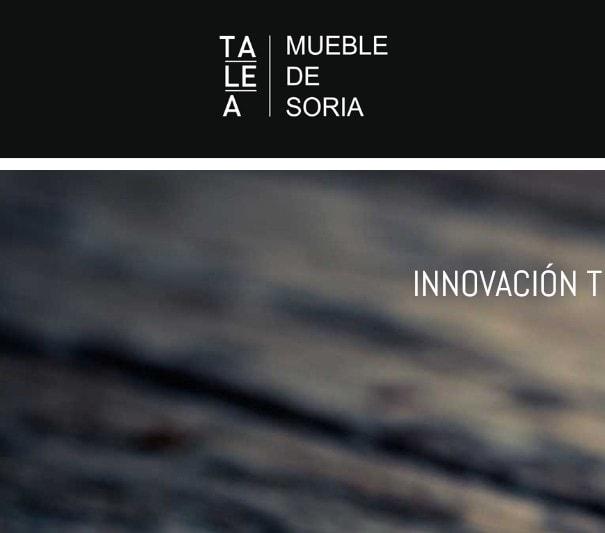 Diseño de página web para empresa fabricante de muebles en Soria, España.