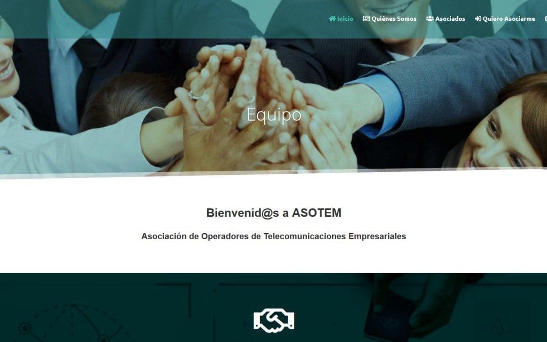 Diseño web para asociación empresarial telecomunicaciones y empresa operadores en España.