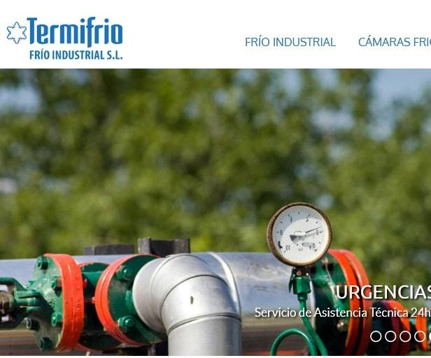 Diseño de página web para empresa de climatización y cámaras frigoríficas