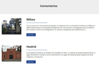 Pagina Web Cementerios Britanicos