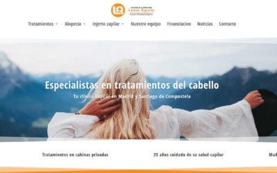 Diseño web para clínicas en madrid y Santiago de Compostela. Diseño web sanitario sector salud.