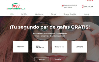 Diseño de página web para óptica clínica de oftalmología de Madrid