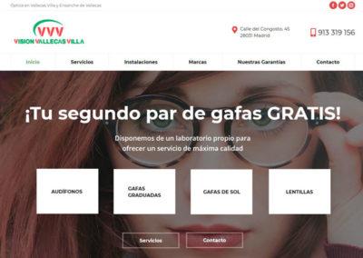 pagina web clinica oftalmologia Diseño paginas web