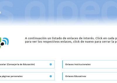 pagina web colegio instituto Diseño paginas web