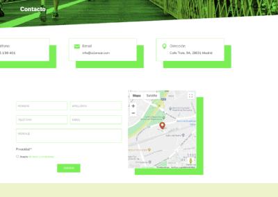 pagina web contacto ocio deporte Diseño paginas web