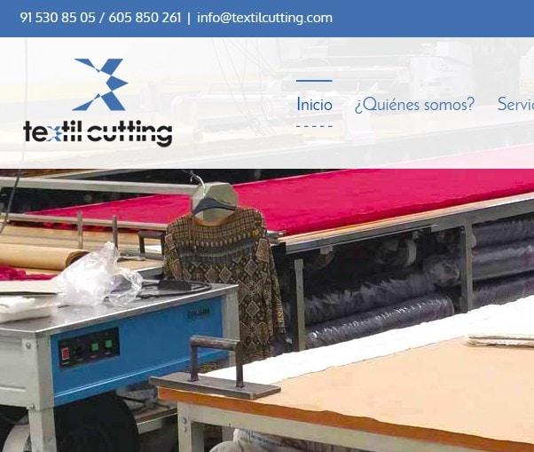 Diseño de página web para empresa de corte textil laser Textil Cutting