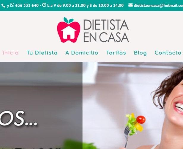 Diseño de página web en Madrid para servicio profesional de Dietista Nutricionista