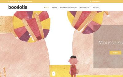 Diseño de página web para empresa literatura en Madrid. Web de editorial, editores y venta de libros.