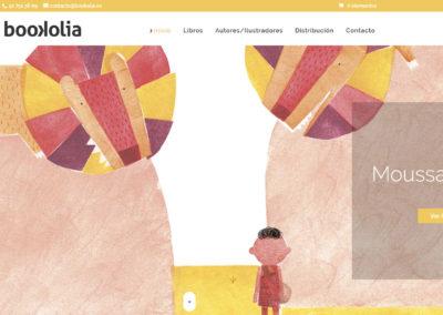 pagina web empresa libros Diseño paginas web