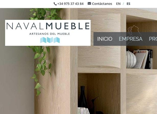 Diseño de página web para empresa de muebles mobiliario Navalmueble