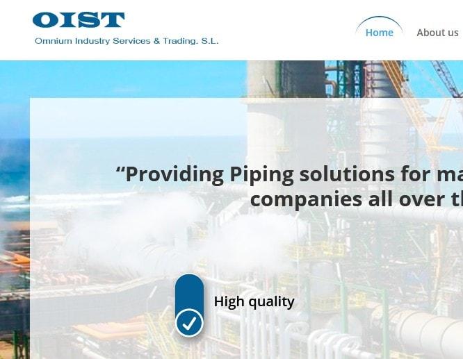 Diseño de página web para empresa de gas aceite petroleo OIST