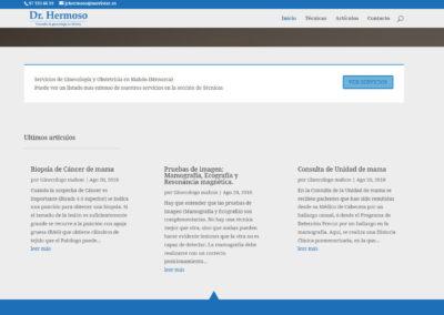 pagina web ginecologia mahon Diseño paginas web
