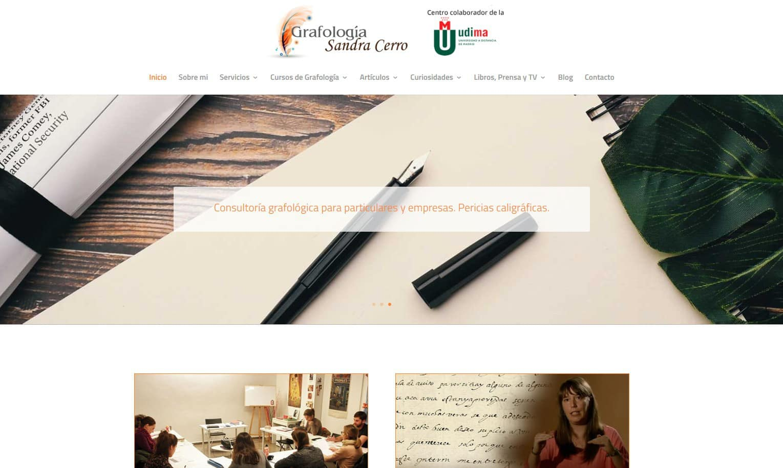 Pagina Web Grafologia Madrid