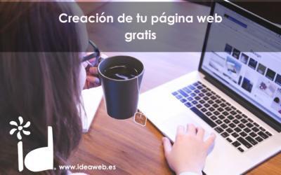 Creación de tu página web gratis