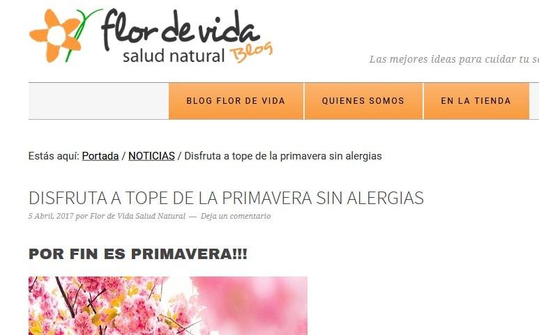 Diseño de página web Blog para herbolario online de venta de productos dietéticos y de salud natural