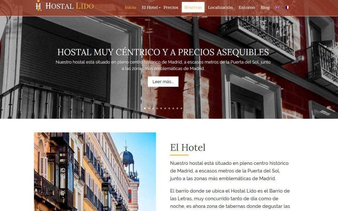 Página web para hostal en Madrid. Diseño web de la nueva página para hostal en el centro madrileño.