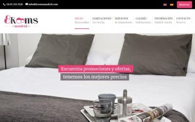 Diseño de página web para Hotel y alquileres en Madrid Atocha