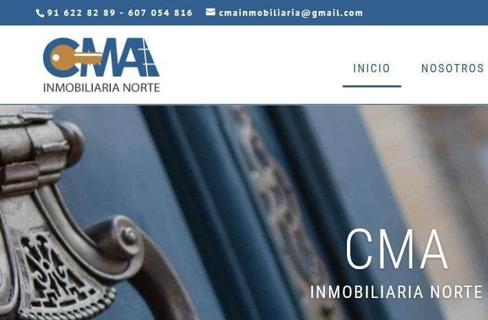 Diseño de página web para inmobiliaria en Madrid empresa alquiler y venta de pisos