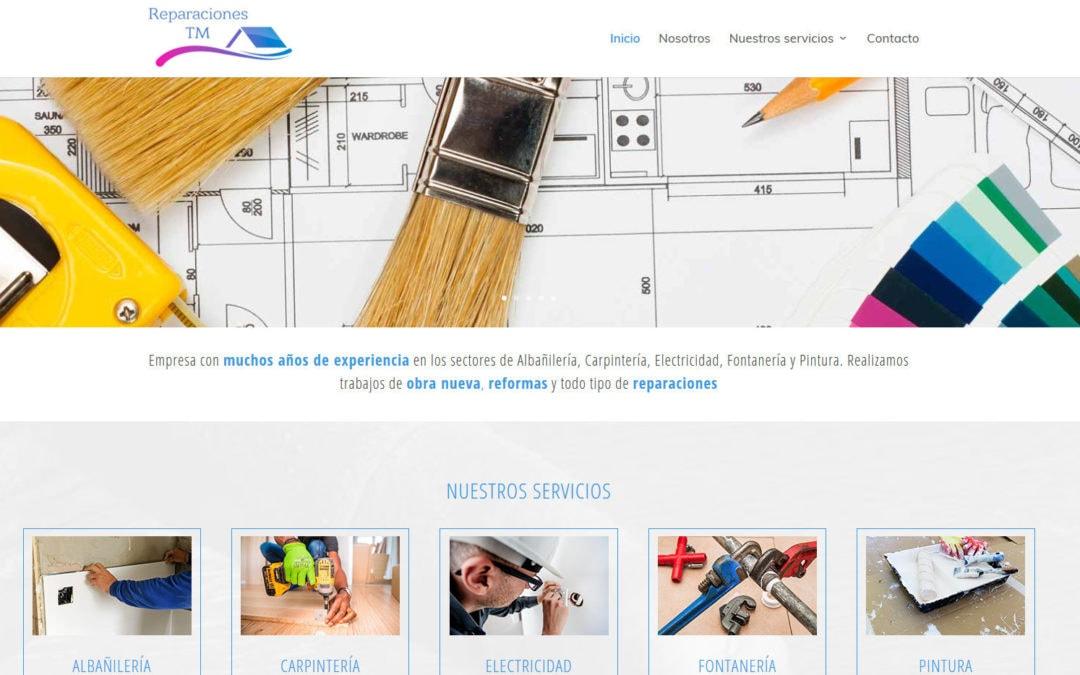 Diseño de pagina web para empresa de reparaciones y reformas en Madrid