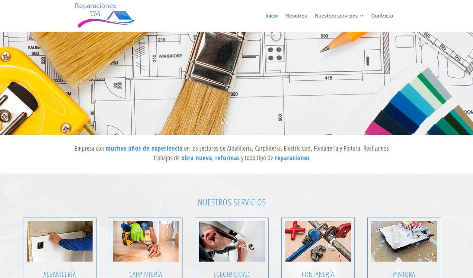pagina web manitasyreformas reparaciones Diseño paginas web