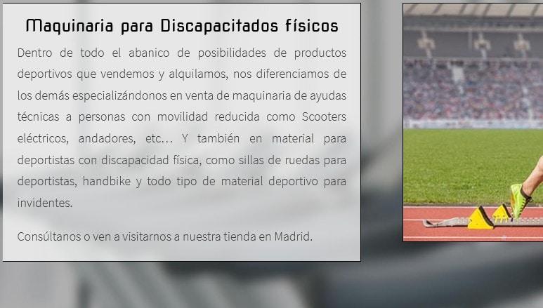 Diseño de página web para empresa de reparación, mantenimiento y distribución de maquinaria deportiva y gimnasios
