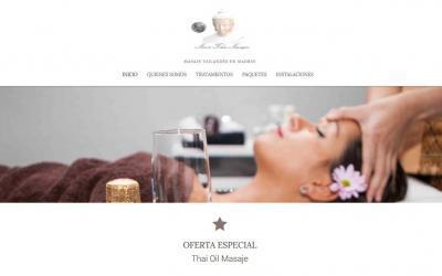Diseño de páginas web en Madrid para empresa masajes y salud