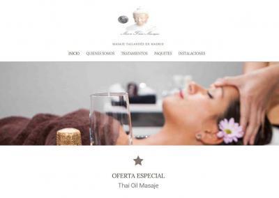 pagina web masajes thai Diseño paginas web