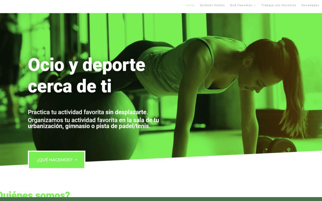 Nuevo diseño de página web para empresa madrileña Ocio y Deporte
