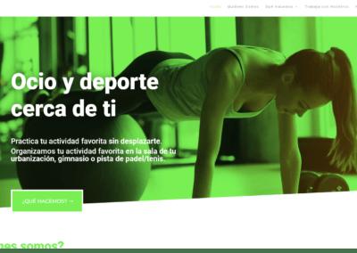 pagina web ocio deporte Diseño paginas web