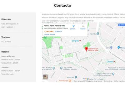 pagina web oculistas Diseño paginas web