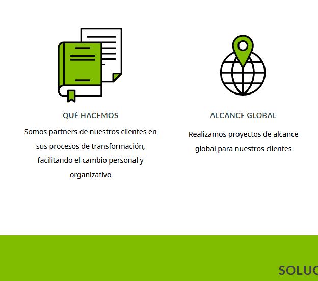 web para organización profesional