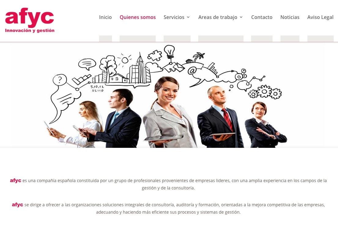 Diseño de página web para compañía dedicada a consultoría, asesoría y auditoría española