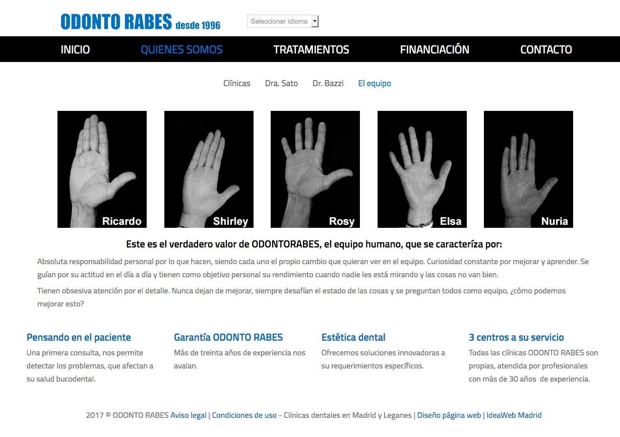 Creación de página web sencilla para clínicas dentales en Madrid
