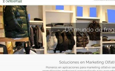 Rediseño pagina web para empresa de marketing olfativo para empresas, centros comerciales, comercios y tiendas