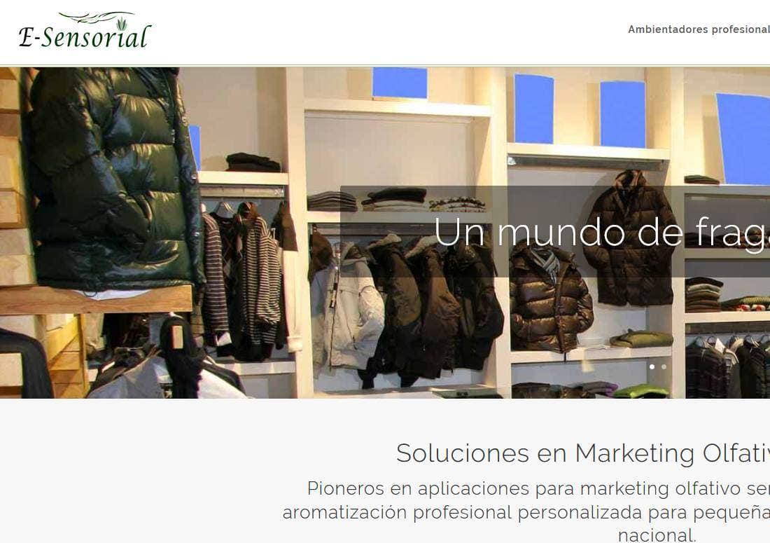pagina web para empresa perfumes