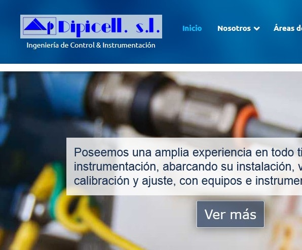 Diseño de página web para empresa ingeniería de control e instrumentación en España