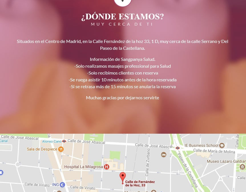 Diseño de página web para empresa de masajes thailandeses