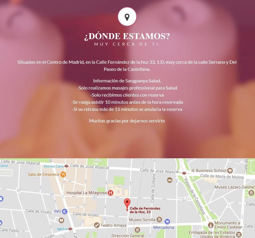 pagina web para masajes Diseño paginas web