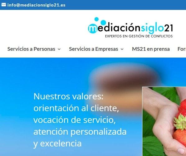 Diseño de página web para servicios a empresas y personas, mediación, coaching y gestión de relaciones laborales.